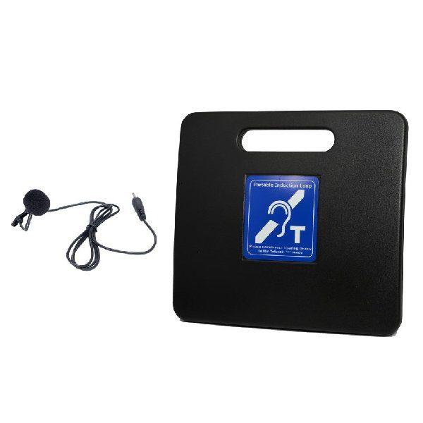 Portable Info Loop, power supply, tie clip microphone