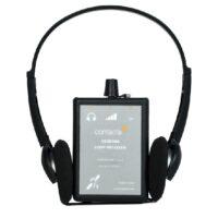 RX20 Loop Listener, over-the-head headphones, 2 AAA batteries and lanyard included