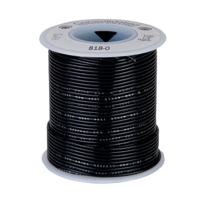 Wire; 100ft roll of 22awg wire, Black