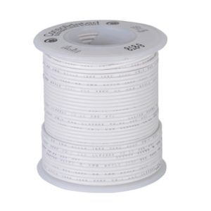 Wire; 100ft roll of 22awg wire, White